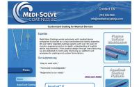 Medi-Solve Coatings LLC website layout
